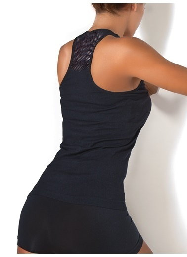Miorre Seamless (Dikişsiz) Fileli Atlet Siyah